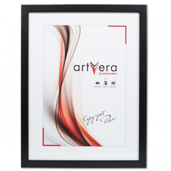 Holzrahmen Uppsala 20x30 cm | Schwarz | Normalglas
