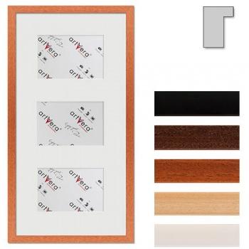 3er Galerierahmen Lund in 25x50 cm für 10x15