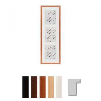 3er Galerierahmen Lund in 25x80 cm für 15x20