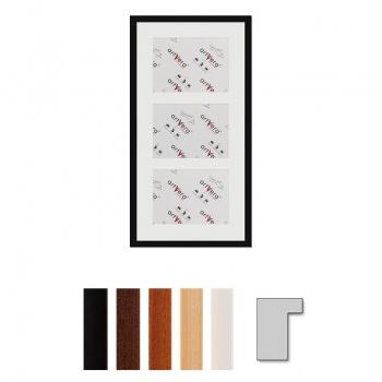 3er Galerierahmen Lund in 30x60 cm für 15x20