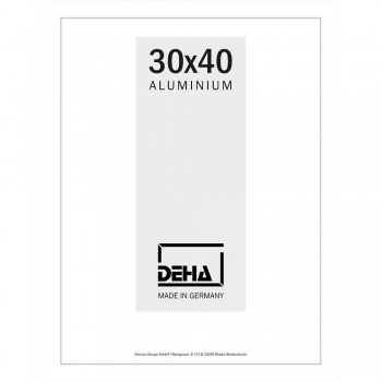 Alu-Bilderrahmen Lukida 20x28 cm | Weiß RAL 9016 | Normalglas