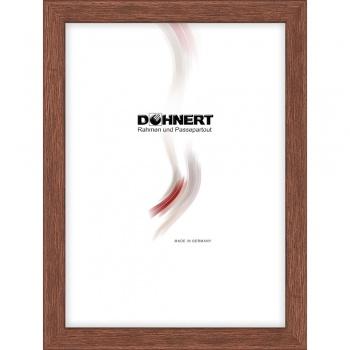 Holz-Bilderrahmen Bermondsey nach Maß Braun | Normalglas