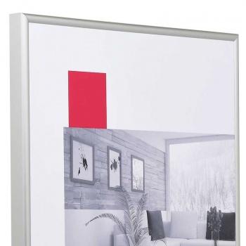 Alu-Bilderrahmen S1 60x90 | silber matt | Normalglas