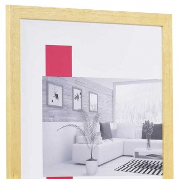 Holz-Bilderrahmen Profil 2210 30x40 | natur | Normalglas