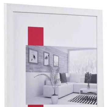 Holz-Bilderrahmen Profil 2210 30x40 | weiß | Normalglas