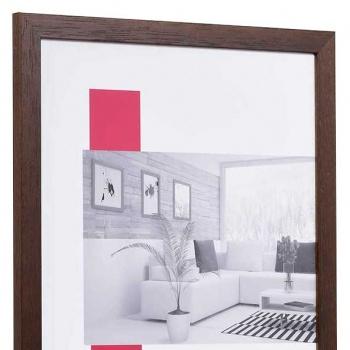 Holz-Bilderrahmen Profil 2210 30x40 | wenge | Normalglas