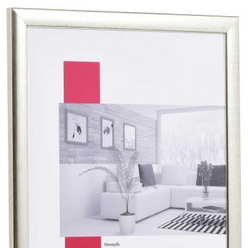 Holz-Bilderrahmen Profil 43 60x90 | silber | Normalglas