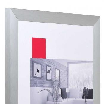 Alu-Bilderrahmen L2 13x18   silber   Normalglas