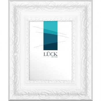 Barockrahmen Eppingen 50x60 cm | Weiß | Antireflexglas
