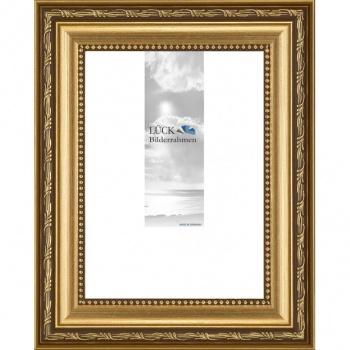Barockrahmen Fichtenau mit Passepartout 60x80 cm (50x70 cm) | Gold | Antireflexglas
