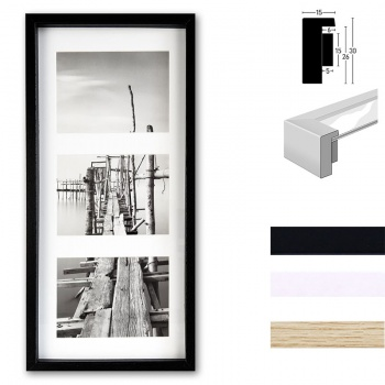 Galerie-Holzrahmen Aura, 4er-Set