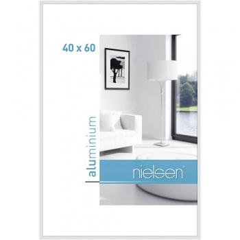 Alurahmen Classic 40x60 cm   Weiß glanz   Normalglas