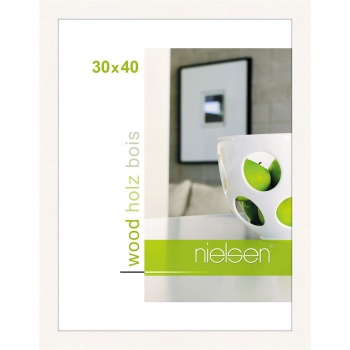 Holzrahmen Essential 30x40 cm | weiß | Normalglas
