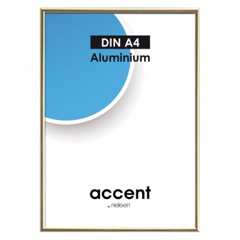 Alurahmen Accent 10x15 cm | Gold glanz | Normalglas