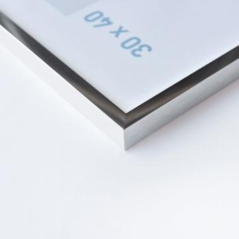 Alurahmen C2 21x29,7 cm (A4) | Silber glanz | Normalglas