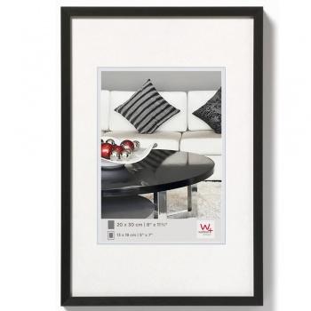 Alu-Bilderrahmen Chair 10x15 | schwarz | Normalglas