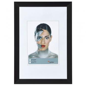 Alu-Bilderrahmen Spacy 10x15 cm | schwarz | Normalglas