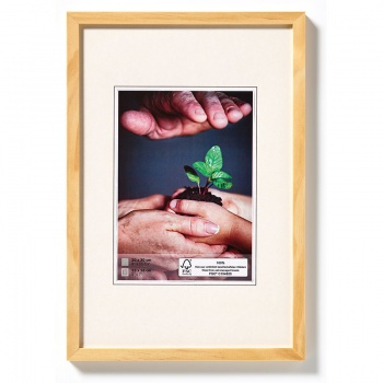 Holz-Bilderrahmen Nature 21x29,7 cm (A4) | natur | Normalglas