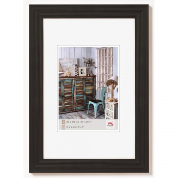 Holz-Bilderrahmen Grado 10x15 | schwarz | Normalglas