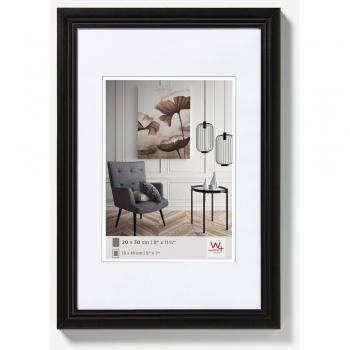 Holz-Bilderrahmen Living 10x15 | schwarz | Normalglas