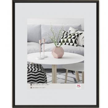 Kunststoff-Bilderrahmen Galeria 13x13 cm | schwarz | Normalglas