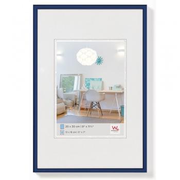 Kunststoff-Bilderrahmen New Lifestyle 20x30 cm | Blau | Normalglas