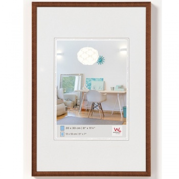 Kunststoff-Bilderrahmen New Lifestyle 20x30 cm | Bronze | Normalglas
