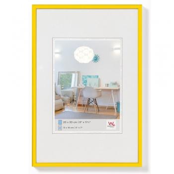 Kunststoff-Bilderrahmen New Lifestyle 20x30 cm | Gelb | Normalglas