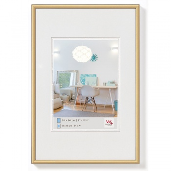 Kunststoff-Bilderrahmen New Lifestyle 20x30 cm | Gold | Normalglas