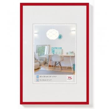 Kunststoff-Bilderrahmen New Lifestyle 20x30 cm | Rot | Normalglas