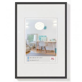 Kunststoff-Bilderrahmen New Lifestyle 10x15 cm | Schwarz | Normalglas