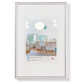 Kunststoff-Bilderrahmen New Lifestyle 20x30 cm | Silber | Normalglas