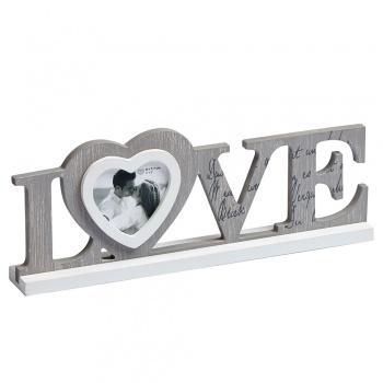Holz-Bilderrahmen Love