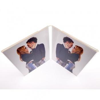 Doppelrahmen Acryl 2 Fotos 10x15 cm Hochformat
