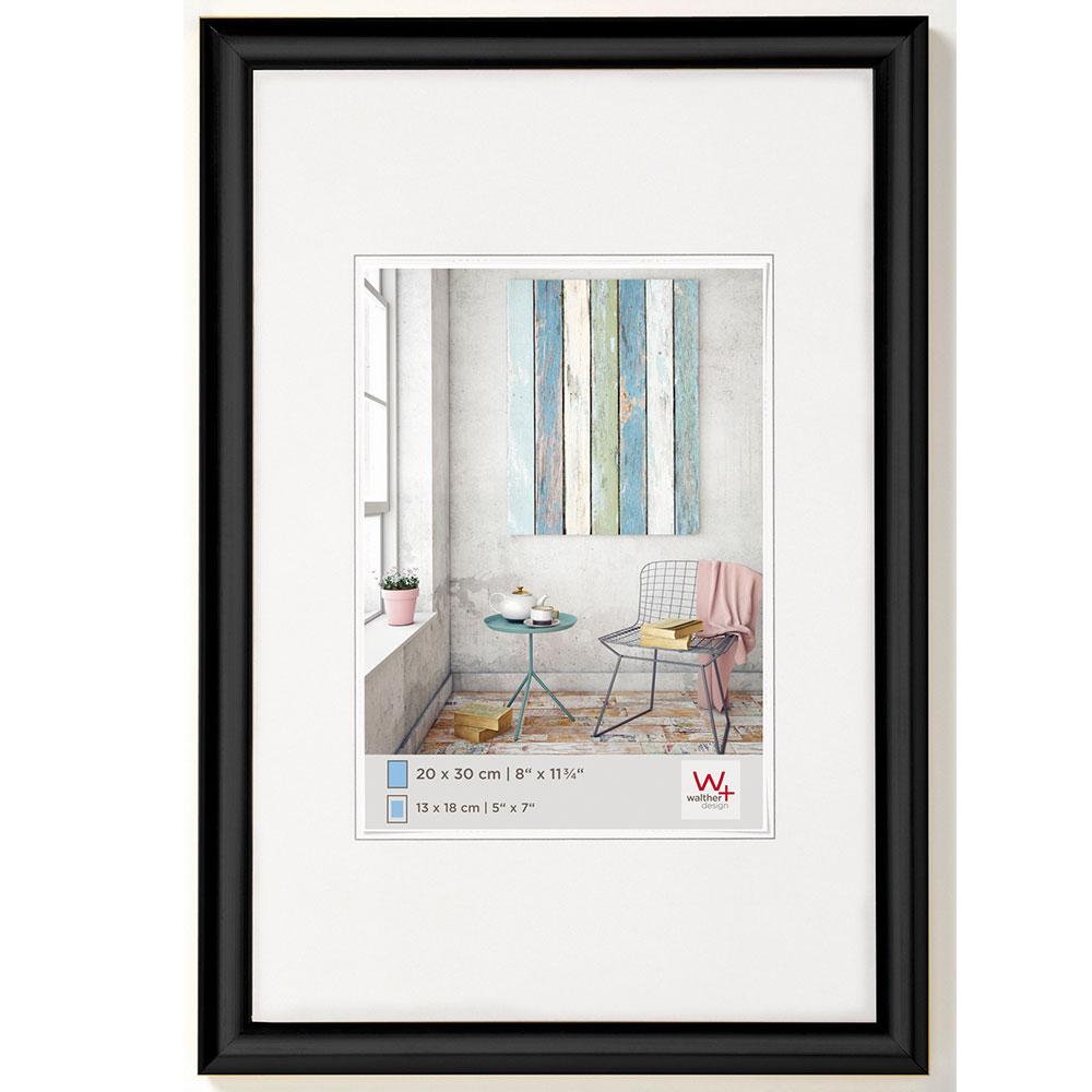 kunststoff bilderrahmen trendstyle 50x70 cm schwarz normalglas bilderrahmen. Black Bedroom Furniture Sets. Home Design Ideas